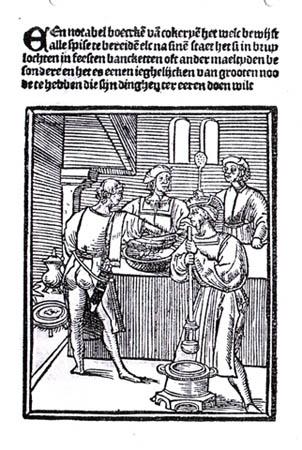 Titelblad van 'Een notabel boecxken van cokeryen' uit 1514