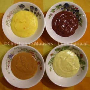 Four modern flavours for Dutch 'vla' or custard - home made