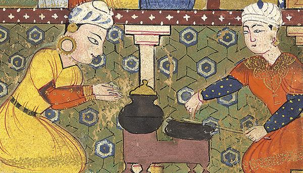 Perzische kokkinnen aan het werk