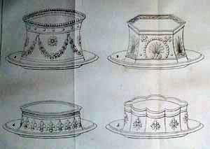Vier voorbeelden van pasteibakken uit de 'Patissier Royal'