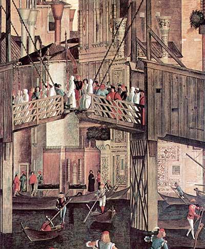 De Ponte Vecchio in Venetië (Carpaccio, 1494, detail)