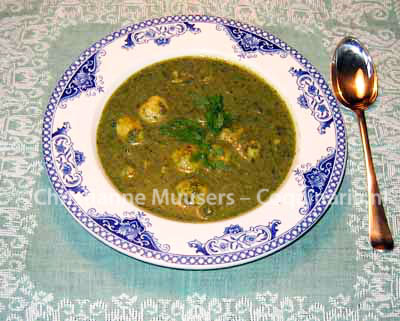 Soup with herbs, a 19th-century recipe