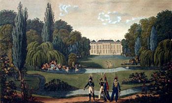 Elysée-Bourbon paleis in 1815, Gravure Henri Courvoisier-Voisin