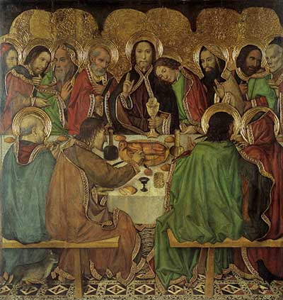 Het laatste avondmaal, door Jaume Huguet, ca 1463-1470. Bron: Wikimedia.