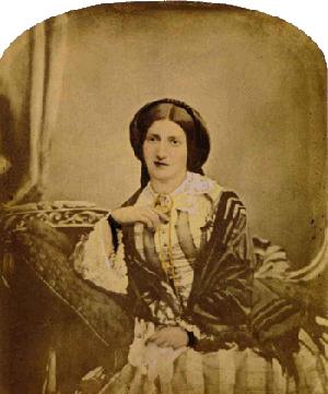 Portrait of Isabella Beeton, 1856 (source Wikimedia)