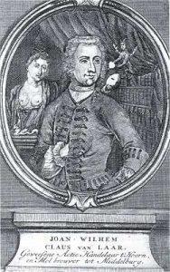 Satirisch portret van Jan Willem Claus van Laar