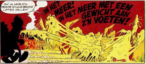 Kaasfondue bij de Romeinen in Asterix in Helvetia van Uderzo en Goscinny