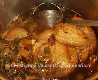 Chicken stock befor straining