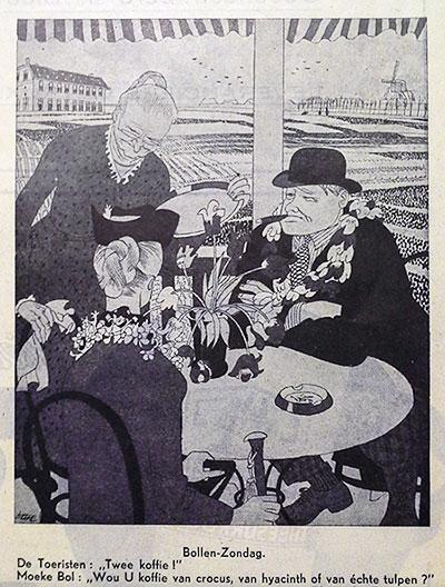 Cartoon in De Haagsche Post 1941, from Kuyk and Schots (see bibliography)