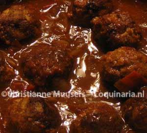 Kofta kerrie - Indiase gehaktballetjes in tomatensaus