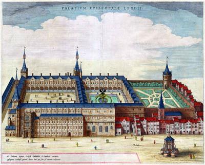 Het bisschoppelijk paleis in Luik