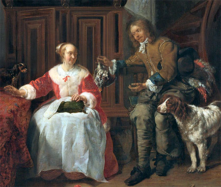 The hunting trophy, Gabriël Metsu (ca 1660)