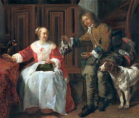 De jagersbuit, Gabriël Metsu (ca 1660)