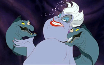 Ursula the Sea Witch and her bad guys