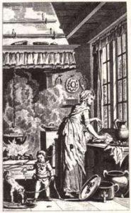 Frontispice of the Nieuwe vaderlandsche kookkunst ('New national culinary art' 1797)