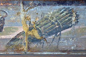 Romeins fresco met asperges (detail), Bron Wikimedia