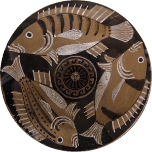 Decorated plate, 4th century BC
