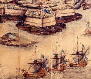 The battle at Port Mahon, 1756