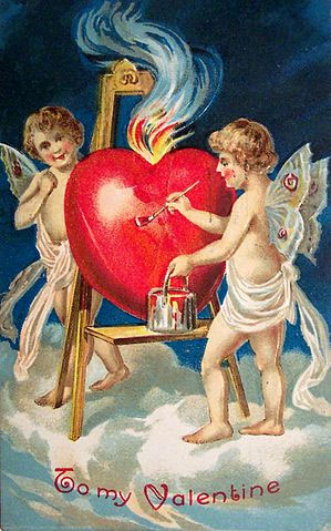 Valentine Day Card from 1909. Source: Wikimedia