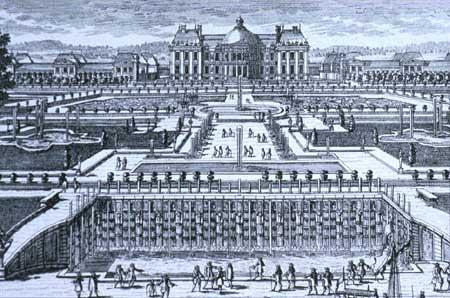 Gravure van kasteel Vaux-le-Vicomte