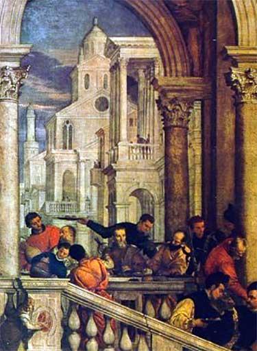 Detail van Paolo Veronese, Maaltijd in het Huis van Levi (midden 16de eeuw) Bron: Wikimedia, The Yorck Project