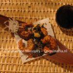 Gefrituurde garnalen met tempurasaus
