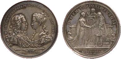 Huwelijkspenning prinses Anna en toekomstig erfstadhouder Willem IV