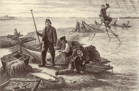 Zalmvisserij in de Elzas anno 1884