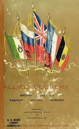 The cover of 'Allied Cookery' (1916)