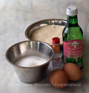 De ingrediënten voor amandelspijs