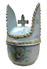 Terrine in the guise of a bishop's mitre, meant for Bishop's Wine (18th century)