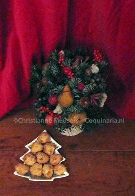Bitterkoekjes in kerstsfeer