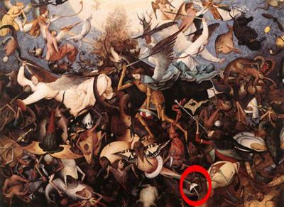 De val van de opstandige engelen. Pieter Breughel de Oude (1562)