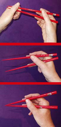 Handling chopsticks