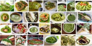 Screenshot van het zoeken op 'groene saus' in Google Images
