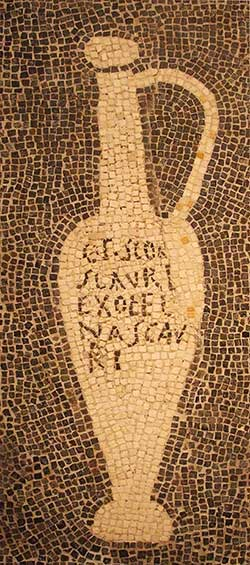 The best of kinds of garum sold by fish sauce tradesman Aulus Umbricius Scaurus. Source: Wikimedia - Claus Ableiter