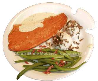 Hot-smoked salmon with mustard-dill sauce