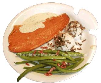 Smoked salmon with mustard-dill sauce