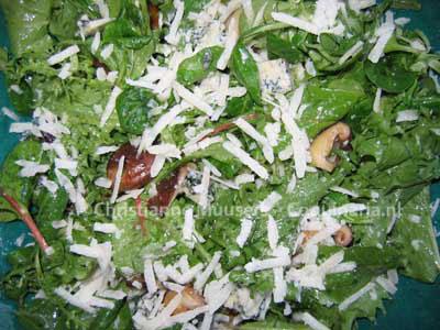Heel smakelijke salade voor de herfst