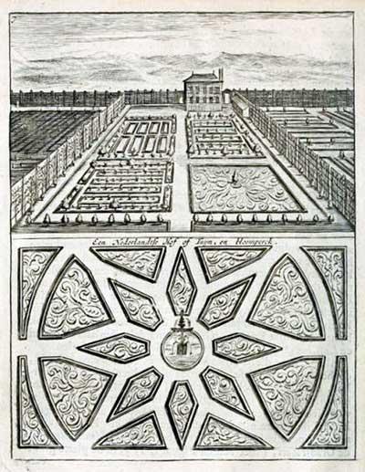 Voorbeeld van 'een Nederlandtse Hof' Uit De Nederlandse Hovenier (1699)