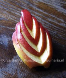 Een Japans gesneden appelpartje