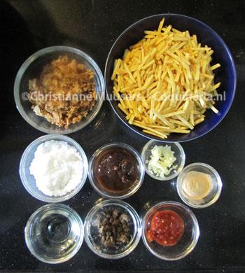 De ingrediënten van 'frietjes met fruitjes'