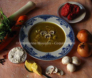 Curry soup from 1930 from the cookbook by P.J. Kers
