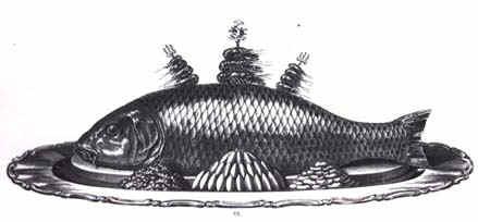 Opgemaakte zalm (19de eeuw).