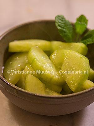Gestoofde komkommer naar Plinius de oudere. Foto ©Christianne Muusers
