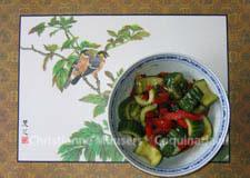 Pittige komkommersalade uit China