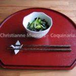 Japanse komkommersalade met zeewier