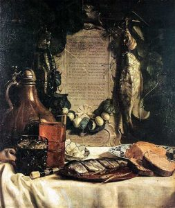 Joseph de Bray, 'Lof van den pekelharingh', 1656 (Gemäldegalerie Alte meister, Dresden, bron wikimedia)