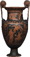 A Lucanian kratèr from the 4th century BC