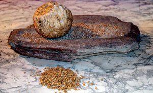 Maalsteen uit het Neolithicum - foto José-Manuel B. Alvarez